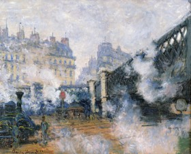 Monet, Le Pont de l'Europe, gare Saint-Lazare, 1877, copyright musée Marmottan Monet et Bridgeman Art Library